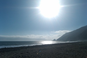 Sunset at Point Mugu in Malibu, California
